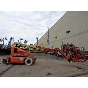 JLG E450AJ ARTICULATING BOOM LIFT AERIAL LIFT WITH JIB ARM 45' REACH ELECTRIC 2WD 947 HOURS STOCK # BF9468169-ESPA