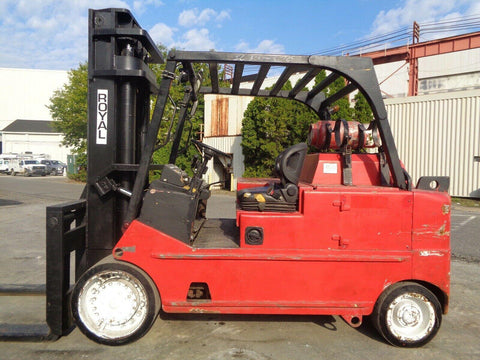"ROYAL T300C 30000 LB LP GAS FORKLIFT TRUCK 115/107"" 2 STAGE MAST 9436 HOURS STOCK # BF9871039-ESPA"