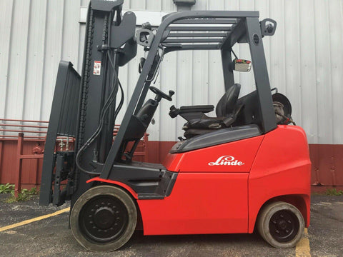 "2013 LINDE H27CT 5000 LB LP GAS FORKLIFT CUSHION 120"" 2 STAGE MAST SIDE SHIFTER STOCK # BF9637999-MWWI"