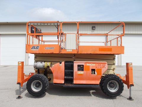 2007 JLG 4394RT SCISSOR LIFT 43' REACH DUAL FUEL ROUGH TERRAIN 4WD 2007 HOURS STOCK # BF924370-RIL