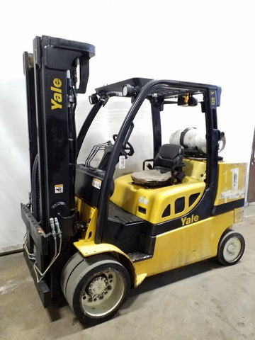2011 YALE GLC120SVX 12000 LB LP GAS FORKLIFT CUSHION 94/185 3 STAGE MAST 12416 HOURS STOCK # BF9219079-NCB