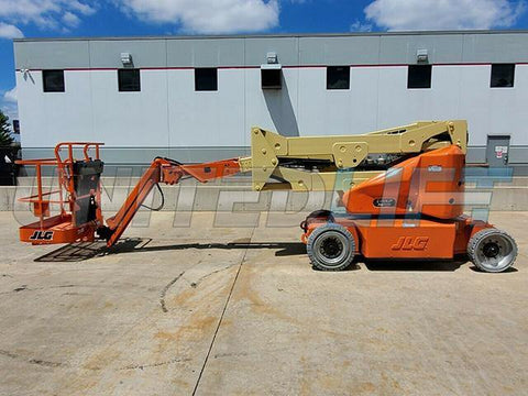 2011 JLG E400AJPN TELESCOPIC ARTICULATING BOOM LIFT AERIAL LIFT WITH JIB ARM 40' REACH ELECTRIC 603 HOURS STOCK # BF9262089-RIL