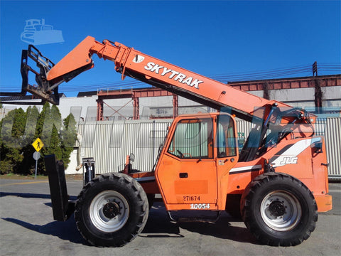 2008 SKYTRAK 10054 10000 LB DIESEL TELESCOPIC FORKLIFT TELEHANDLER 5572 HOURS AUXILIARY HYDRAULICS 4WD ENCLOSED HEATED CAB STOCK # BF9374929-ESPA
