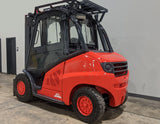 "2016 LINDE H50D 10000 LB DIESEL FORKLIFT PNEUMATIC 94/123"" 2 STAGE MAST ENCLOSED CAB STOCK # BF9292849-ILIL - United Lift Used & New Forklift Telehandler Scissor Lift Boomlift"