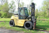 2006 HYSTER H210HD 21000 LB DIESEL FORKLIFT PNEUMATIC 130/147 2 STAGE MAST SIDE SHIFTER 6090 HOURS STOCK # BF99447719-DPA