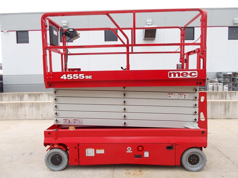 2018 MEC 4555SE 500 LB 45' REACH SCISSOR LIFT ELECTRIC NEW STOCK # BF94555SE-RIL