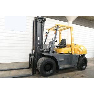 2012 TCM FD70-2 15000 LB DIESEL FORKLIFT PNEUMATIC 109/189 3 STAGE MAST 1182 HOURS STOCK # BF11967-DPA