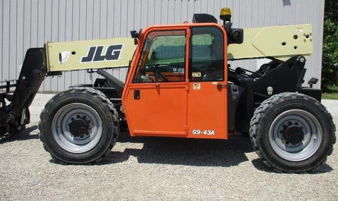 2014 JLG G9-43A 9000 LB DIESEL TELESCOPIC FORKLIFT TELEHANDLER PNEUMATIC 4WD ENCLOSED CAB 3761 HOURS STOCK # BF9761069-CEIL