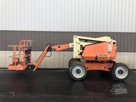 2013 JLG 340AJ ARTICULATING BOOM LIFT AERIAL LIFT WITH JIB ARM 34' REACH DIESEL 4WD 1449 HOURS STOCK # BF9272029-ISNY - United Lift Used & New Forklift Telehandler Scissor Lift Boomlift