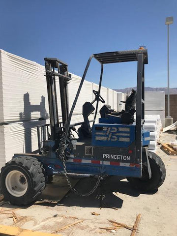 "2005 PRINCETON PB50 5000 LB DIESEL PIGGYBACK FORKLIFT PNEUMATIC 98/120"" 2 STAGE MAST 1500 HOURS STOCK # BF9159139-FPTX - United Lift Used & New Forklift Telehandler Scissor Lift Boomlift"
