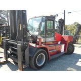 "2008 Kalmar DCE160-1200 40000 LB CAPACITY DIESEL FORKLIFT PNEUMATIC 195/256"" 2 STAGE MAST SIDE SHIFTER FORK POSITIONER HEATED CAB STOCK # BF9735009-995-DBNC"