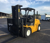 "2012 YALE GDP155VX 15500 LB DIESEL FORKLIFT PNEUMATIC 102/185"" 3 STAGE MAST DUAL TIRES SIDE SHIFTER 7207 HOURS STOCK # BF9305129-TXB"