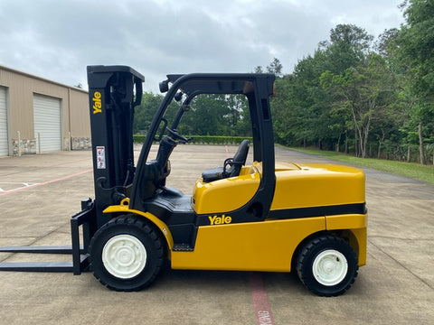 "2014 YALE GDP110VX 11000 LB DIESEL FORKLIFT PNEUMATIC 102/185"" 3 STAGE MAST 6675 HOURS STOCK # BF9249159-TXB - United Lift Equipment LLC"