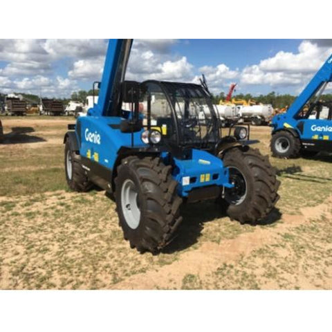 2018 GENIE GTH3007 22' OF REACH TELESCOPIC FORKLIFT DIESEL 4X4 6,600 LBS ENCLOSED CAB W/ HEAT/AC STOCK # BF9669009-ESPA