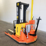"2006 RICO HLW-EX-60 6000 LB CAPACITY EXPLOSION PROOF WALKIE STACKER 83/129"" 2 STAGE MAST DEKA BATTERY STOCK # BF9172019-349-BUF"