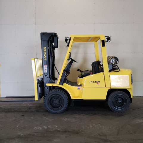 2005 HYSTER H80XM 8000 LB LP GAS FORKLIFT PNEUMATIC 95/194 3 STAGE MAST SIDE SHIFTER 3386 HOURS BF2167-BUF ** ONLY $441.00 PER MONTH ** - Buffalo Forklift LLC