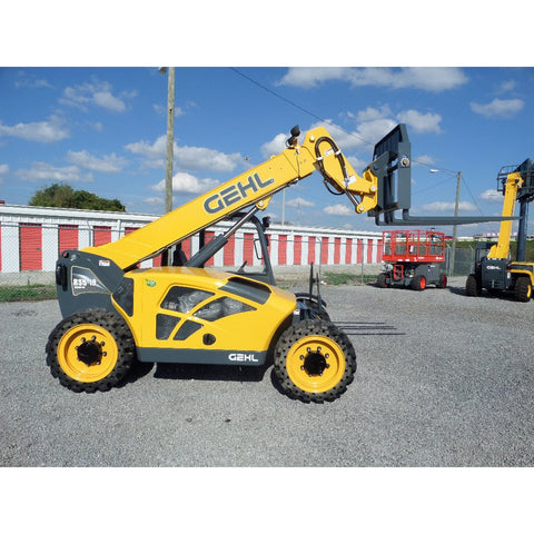 2018 GEHL RS5-19 5500 LB DIESEL TELESCOPIC FORKLIFT TELEHANDLER PNEUMATIC 4WD STOCK #BF9551789-649-VAOH - United Lift Used & New Forklift Telehandler Scissor Lift Boomlift