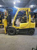 "2011 HYSTER H50FT 5000 LB LP GAS FORKLIFT PNEUMATIC 83/240"" QUAD MAST SIDE SHIFTER STOCK # BF13919-PENJ"