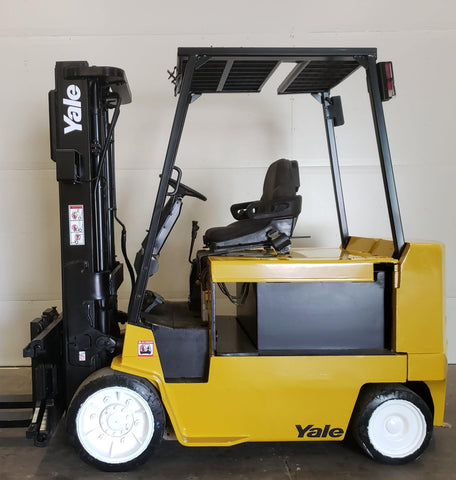 1997 YALE ERC080 8000 LB CAPACITY 48 VOLT ELECTRIC FORKLIFT 92/187 3 STAGE MAST SIDE SHIFTER 1566 HOURS  STOCK # BF995169-BUF
