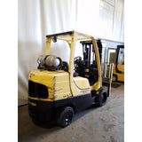 2007 HYSTER S80FT 8000 LB LP GAS FORKLIFT CUSHION 84/176 3 STAGE MAST SIDE SHIFTER 3389 HOURS STOCK # 20961-NCB
