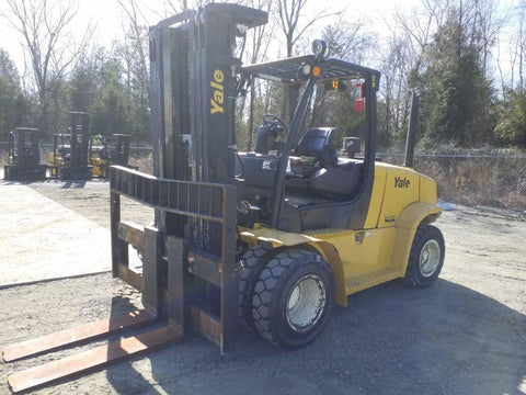 2013 YALE GDP190VX 19000 LB DIESEL 21041 FORKLIFT PNEUMATIC 107/181 3 STAGE MAST DUAL TIRES SIDE SHIFTER 5099 HOURS STOCK # BF9479129-NCB