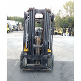 2008 YALE GLC155VX 15500 LB LP GAS FORKLIFT CUSHION 100/185 3 STAGE MAST 5352 HOURS STOCK # 21129-NCB