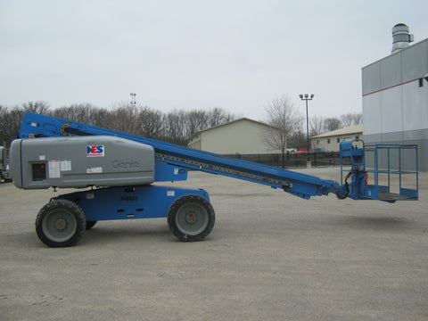 2007 GENIE S60 500 LBS Diesel 60 FT. PNEUMATIC TIRES TIRE TELESCOPIC BOOM LIFT STK# BF922424-RIL