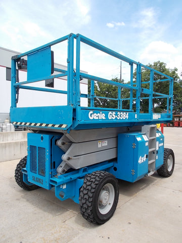 2005 GENIE GS-3384 2500 Pneumatic Rough Terrain Scissor Lift