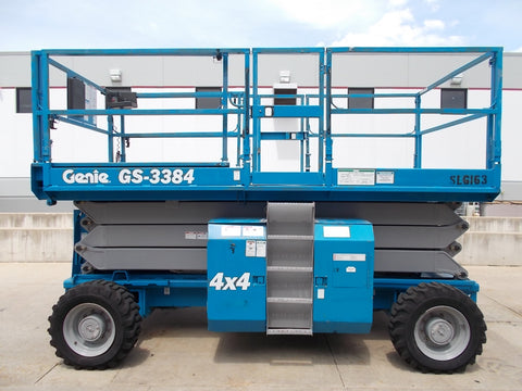 2005 GENIE GS-3384 2500 LBS DUAL FUEL 33 FT. ROUGH TERRAIN PNEUMATIC TIRES STK# BF923686-RIL