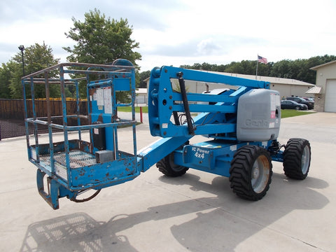 2007 GENIE Z-45/25 500 LBS DUAL FUEL 45 FT. PNEUMATIC TIRES ARTICULATING BOOM LIFT 2509 HOURS STK# BF923751-RIL