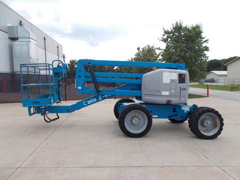 2007 GENIE Z-45/25 500 LBS DIESEL 45 FT. PNEUMATIC TIRES ARTICULATING BOOM LIFT 3397 HOURS STK# BF923753-RIL