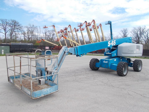 2011 GENIE S-65 500 LBS DIESEL 65 FT. PNEUMATIC TELESCOPIC BOOM LIFT 4650 HOURS STK# BF924084-RIL