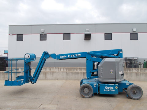 2007 GENIE Z-34/22N 500 LBS ELECTRIC BOOM LIFT 34 FT. CUSHION 81 HOURS STK# BF924336-RIL