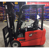 2020 HANGCHA AC6-S18 3500 LB FORKLIFT ELECTRIC 3 WHEEL CUSHION 80/185 3 STAGE MAST SIDE SHIFTER STOCK # BF919189-BUF