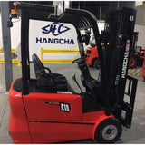 2019 HANGCHA AC6-S20 4000 LB FORKLIFT ELECTRIC 3 WHEEL CUSHION 80/185 3 STAGE MAST SIDE SHIFTER STOCK # BF919589-BUF