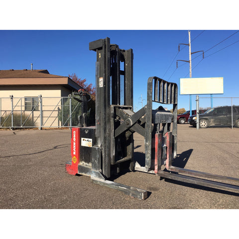 "2007 RAYMOND RSS30 4000 LB ELECTRIC FORKLIFT WALKIE REACH STACKER CUSHION 2 STAGE 83/124"" MAST STOCK # BF962489-CLTMN"