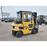2013 CATERPILLAR 2P5000 5000 LB LP GAS FORKLIFT PNEUMATIC 83/188 3 STAGE MAST SIDE SHIFTER ENCLOSED CAB 800 HOURS STOCK # BF9296409-259-CLTMN - United Lift Used & New Forklift Telehandler Scissor Lift Boomlift