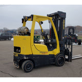 2011 HYSTER S80FT-BCS 8000 LB LP GAS FORKLIFT CUSHION 98/273 QUAD MAST SIDE SHIFTING FORK POSITIONER STOCK # BF9196519-PEMN