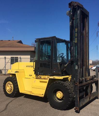 HYSTER H280XL 28000 LB DIESEL FORKLIFT PNEUMATIC 161/183 2 STAGE MAST SIDE SHIFTER NEW DUAL TIRES ENCLOSED CAB STOCK # BF946159-CLMN