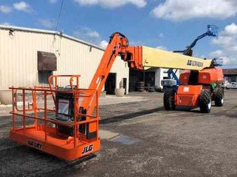 2006 JLG 1350SJP TELESCOPIC STRAIGHT BOOM LIFT AERIAL LIFT WITH JIB ARM 135' REACH DIESEL 4WD 4403 HOURS STOCK # BF9791339-NLEQ - United Lift Used & New Forklift Telehandler Scissor Lift Boomlift