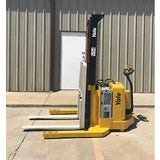2007 YALE MSW040SEN24TV087 4000 LB ELECTRIC FORKLIFT WALKIE STACKER CUSHION 87/130 2 STAGE MAST 1612 HOURS STOCK # 5949-C820N0-ARB