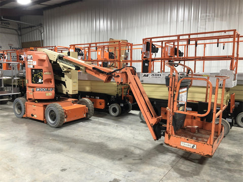 2010 JLG E300AJP ARTICULATING BOOM LIFT AERIAL LIFT WITH JIB ARM 30' REACH ELECTRIC 31 HOURS STOCK # BF9153029-ISNY - United Lift Used & New Forklift Telehandler Scissor Lift Boomlift