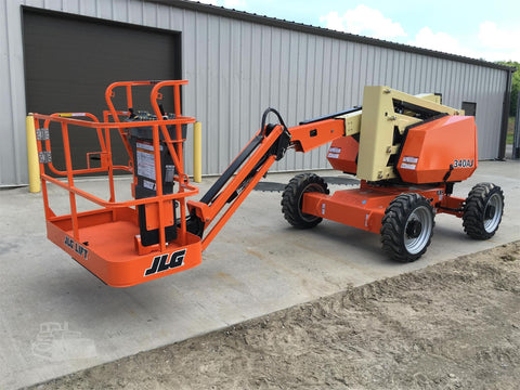 2016 JLG 340AJ ARTICULATING BOOM LIFT AERIAL LIFT WITH JIB ARM 34' REACH DIESEL 4WD 388 HOURS STOCK # BF9521659-ISNY