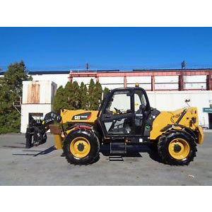 2014 CATERPILLAR TH414C 8000 LB DIESEL TELESCOPIC FORKLIFT TELEHANDLER PNEUMATIC 4WD ENCLOSED CAB 1048 HOURS STOCK # BF9715529-ESPA