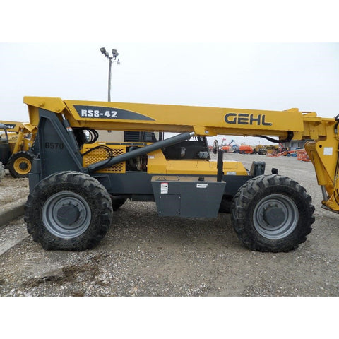 2007 GEHL RS8-42 8000 LB DIESEL TELESCOPIC FORKLIFT TELEHANDLER PNEUMATIC 4WD ENCLOSED CAB 3412 HOURS STOCK # BF965709-FILB