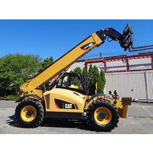 2014 CATERPILLAR TH417C 8000 LB DIESEL TELESCOPIC FORKLIFT TELEHANDLER PNEUMATIC 4WD 1203 HOURS STOCK # BF9636159-ESPA