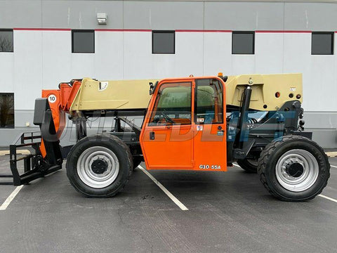2012 JLG G10-55A 10000 LB DIESEL TELESCOPIC FORKLIFT TELEHANDLER PNEUMATIC 4WD ENCLOSED CAB 3700 HOURS STOCK # BF9687499-RIL