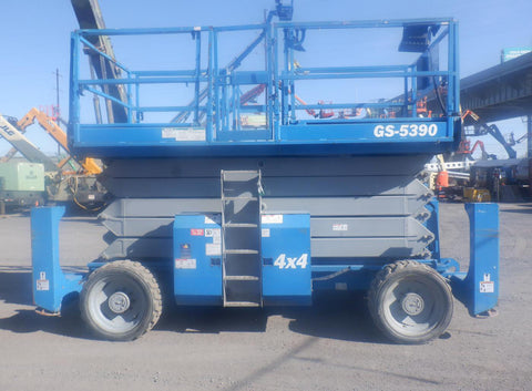 2014 GENIE GS5390RT SCISSOR LIFT 53' REACH DIESEL ROUGH TERRAIN 4WD 1915 HOURS STOCK # BF9371539-NLEQ - United Lift Equipment LLC