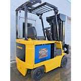2001 DAEWOO BC20S-2 4000 LB ELECTRIC FORKLIFT CUSHION 88/240 3 STAGE MAST 5472 HOURS STOCK # BF171481-FTWIB - united-lift-equipment