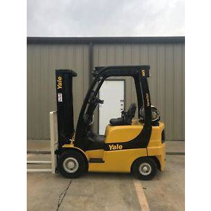 2006 YALE GLP040 4000 LB LP GAS FORKLIFT PNEUMATIC 84/130 2 STAGE MAST 7474 HOURS STOCK # 9137-02416D-ARB